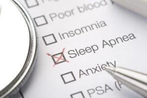 List of disorders with sleep apnea checked